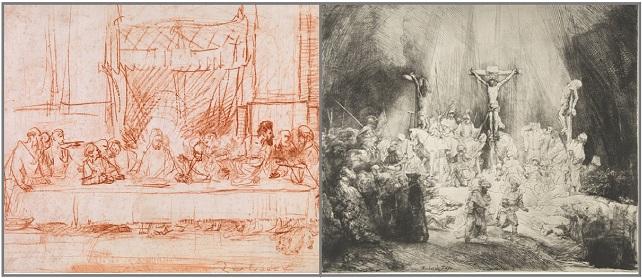 Рембрандт.Тайная вечеря-1635 г. Три креста.