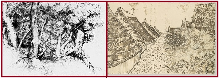 Тициан. Группа деревьев-1516-18 гг. Винсент ван Гог. Улица в Сент Морице