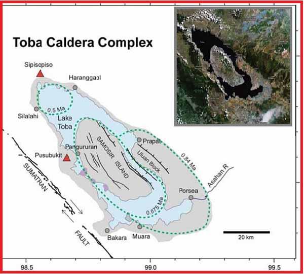 Кальдера супервулкана Тоба