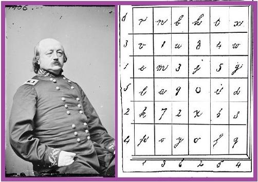 Генерал Бенджамин Батлер и шифр Элизабет Ван Лью