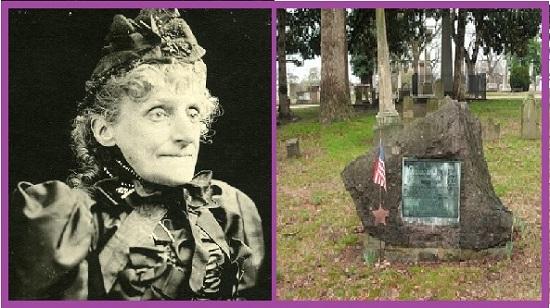 Элизабет Ван Лью в старости и ее могила