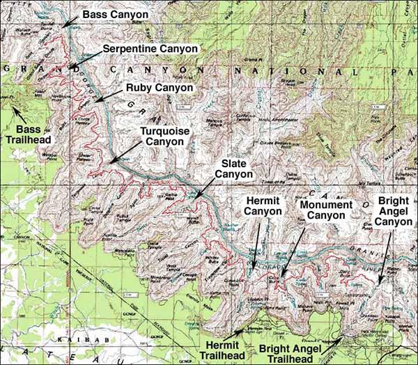 Карта Национального парка Гранд- Каньон