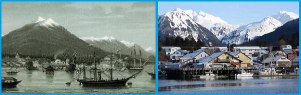 Ново-Архангельск 1867 год - Ситка в настоящее время
