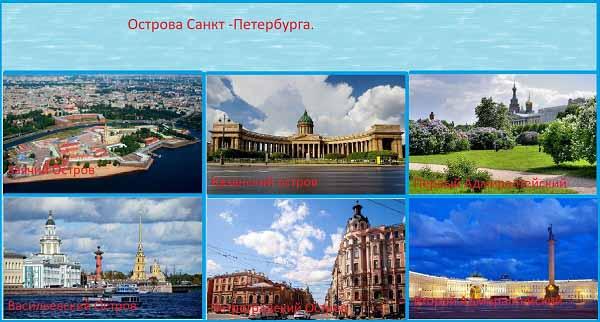 Острова Санкт -Петербурга