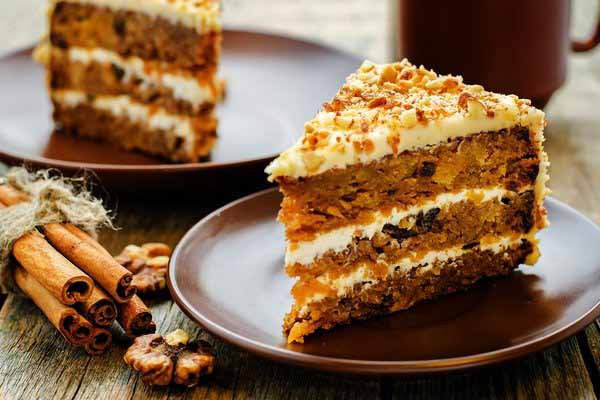 Аппетитный кусочек морковного торта